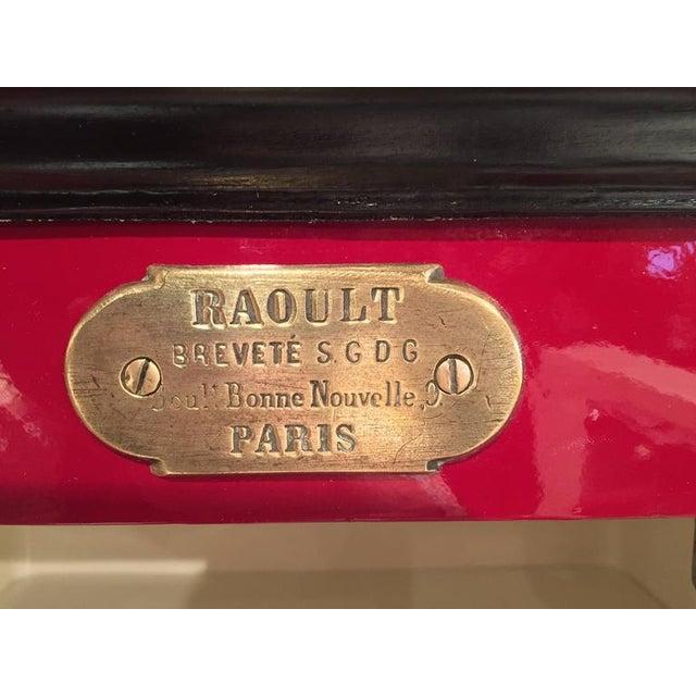 19th Century Parisian Iron Safe Box & Keys - Image 4 of 10