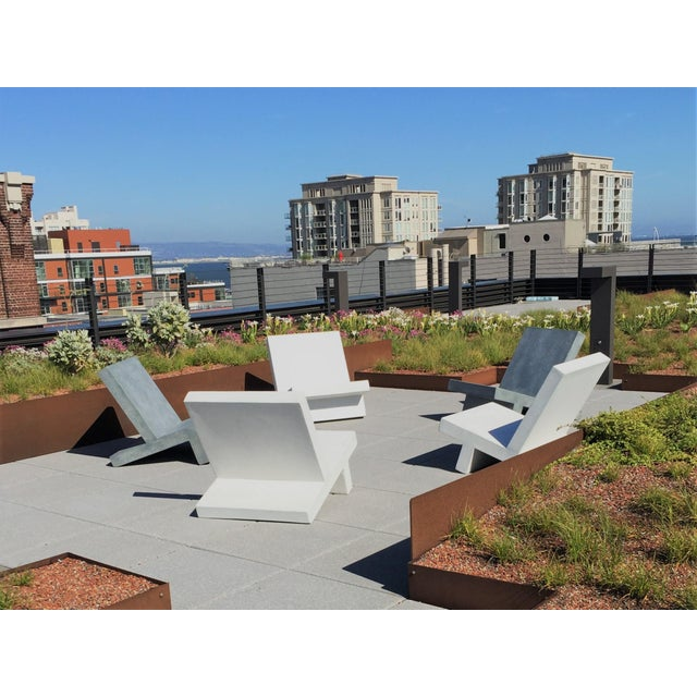 Zachary A. Design Cast Resin 'Wavebreaker' Lounge Chair For Sale In Chicago - Image 6 of 9