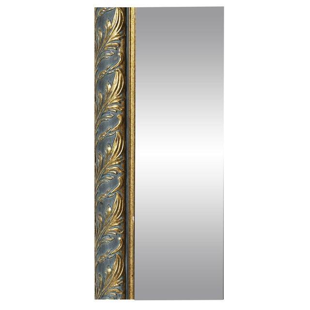 1970s Vintage Black & Gold Octagonal Hall Mirror - Image 3 of 3