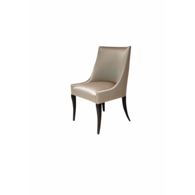 NEVER SAT IN Dining Chairs originally purchased for $25k. Attractive curved backs and champagne toned upholstery. Think of...