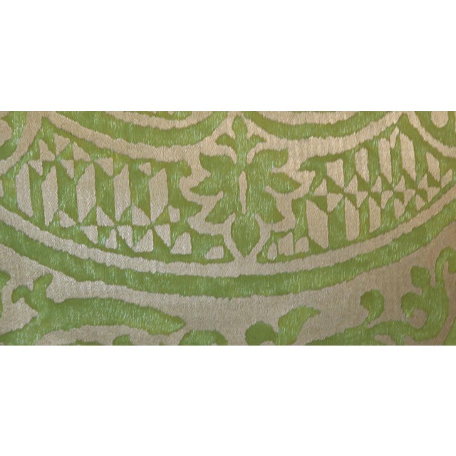 2000s Pair of Green Orsini Fortuny Pillows For Sale - Image 5 of 8