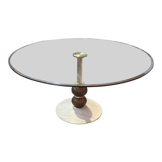 1980s Mid-Centruy Modern Murano Glass Dining Table For Sale