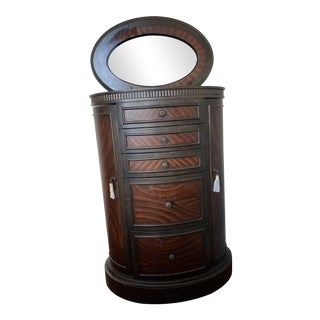 Raymour and Flanigan Wooden Jewelry Armoire For Sale