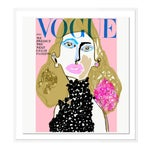 Vogue Cover July 1966 by Annie Naranian in White Frame, Small Art Print