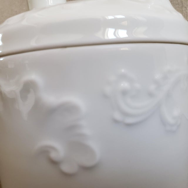 Limoges, France Limoges French Porcelain Tobacco Jar For Sale - Image 4 of 11