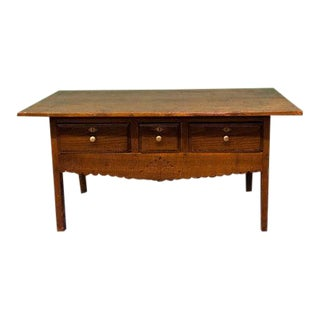 1850s Three Drawer Coffee Table For Sale