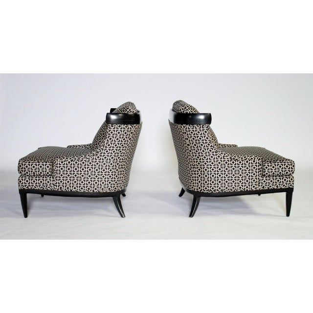 Pair of Slipper Chairs by Erwin Lambeth For Sale In Chicago - Image 6 of 7