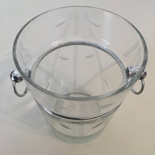 Art Deco Chrome & Engraved Glass Ice Bucket Preview