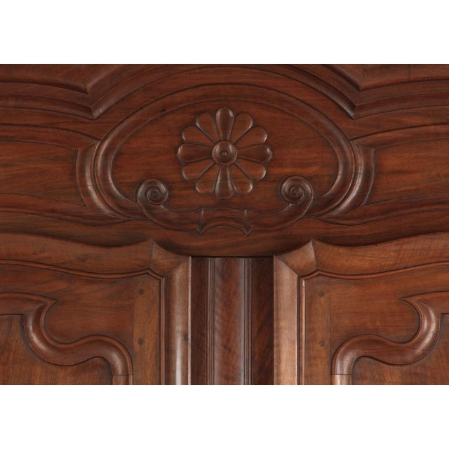 French Louis XV Walnut Armoire, Circa 1800s - Image 5 of 11
