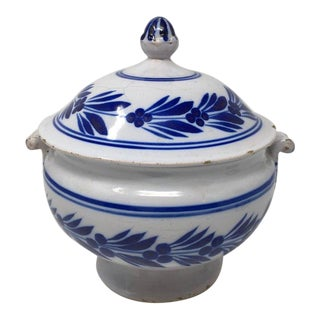 Hand Painted Deruta Pottery Tureen For Sale