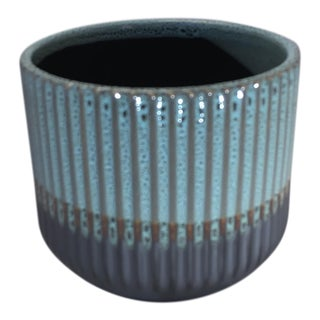 Palma Blue Ceramic Flower Pot For Sale
