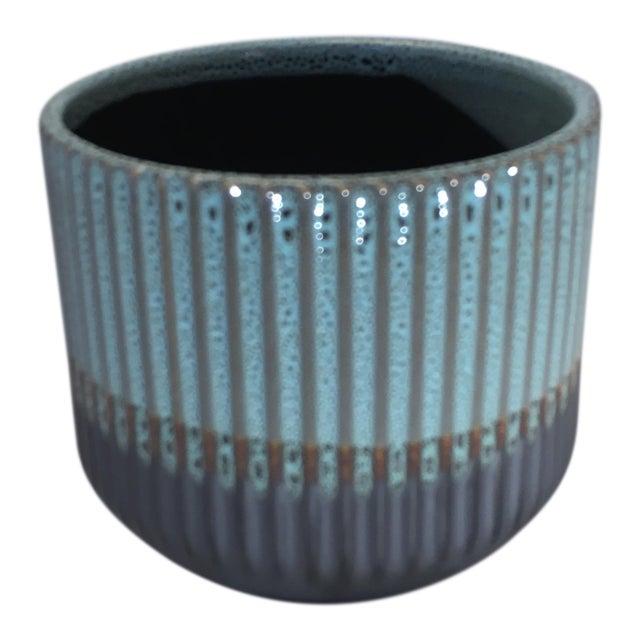 Palma Blue Ceramic Flower Pot For Sale