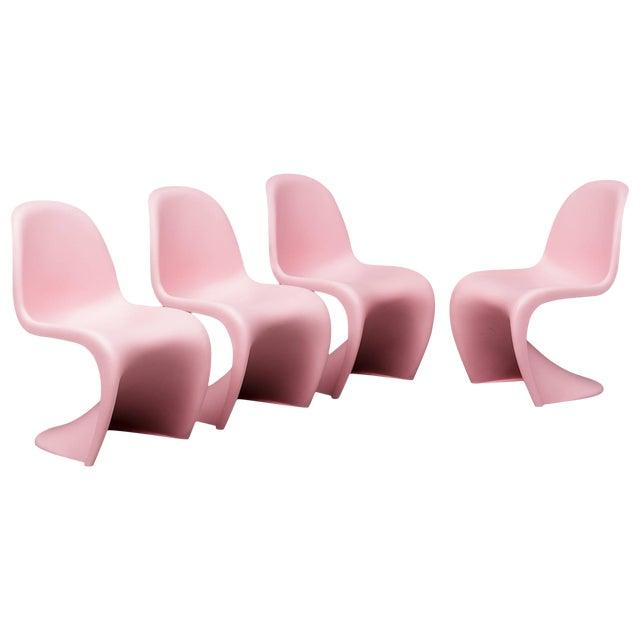 "1950s Vintage Verner Panton ""S"" Chairs- Set of 4 For Sale"