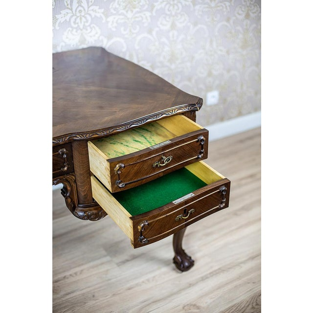 Chippendale Two-Sided Writing Desk For Sale - Image 6 of 12