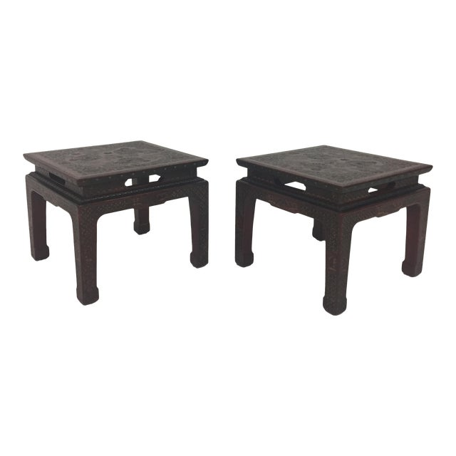 1950s Chinese John Widdicomb Side Tables - a Pair For Sale
