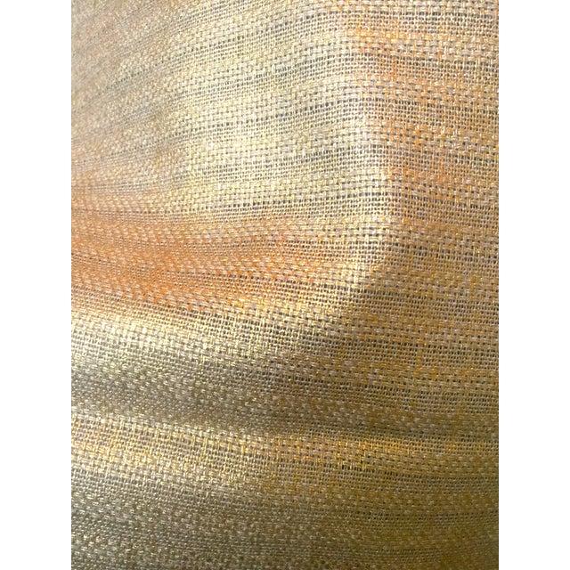 Textile Designer's Guild Sassiere Gold Linen Wide Width Fabric - 2.25 Yards For Sale - Image 7 of 10