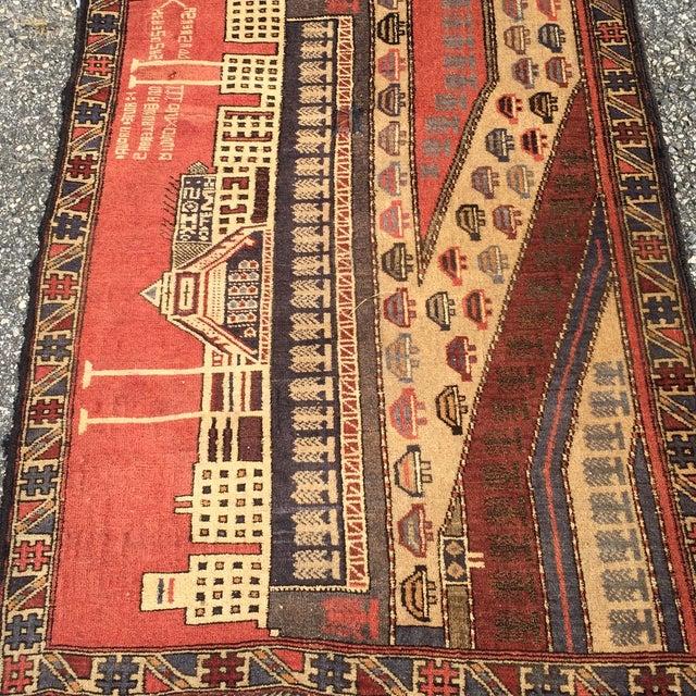 "Vintage Baluchi Persian Rug - 2'11"" x 3'10"" - Image 3 of 10"