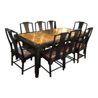 Hollywood Regency Century Dining Set - 10 Pieces For Sale
