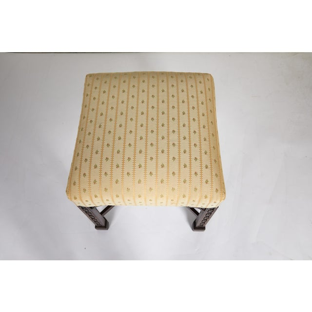 Wood English Chippendale Style Mahogany Stool For Sale - Image 7 of 13