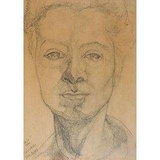 Self Portrait Pencil Drawing For Sale