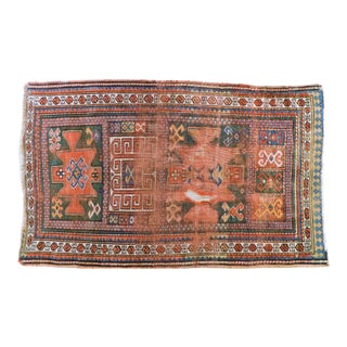 Early 20th Century Antique Caucasian Rug - 3′ × 5′ For Sale