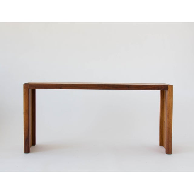 Mid-Century Modern Lou Hodges for California Design Group Solid Wood Console Table For Sale - Image 3 of 11