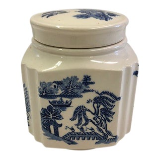 Chinoiserie Covered Ceramic Storage Box For Sale