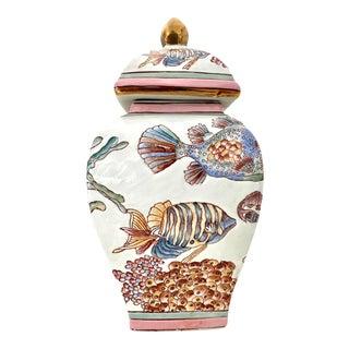 Vintage Fish Ginger Jar For Sale