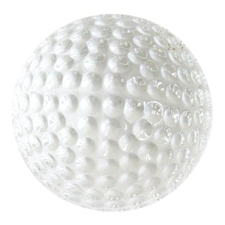 Vintage Waterford Crystal Golf Ball Paperweight, Signed For Sale