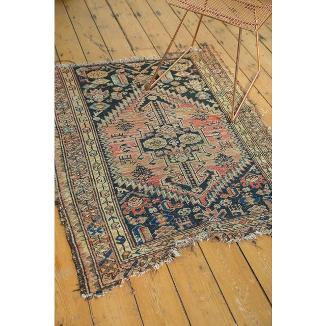 """Antique Tattered Malayer Square Rug - 3'5"""" x 4'3"""" - Image 4 of 10"""