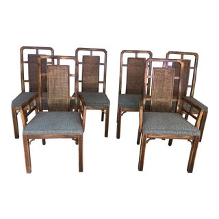 Vintage Chinese Chippendale Dining Chairs- Set of 6 For Sale