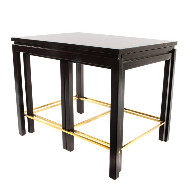 SET OF THREE NESTING TABLES BY EDWARD WORMLEY FOR DUNBAR, CIRCA 1950S - Image 3 of 11