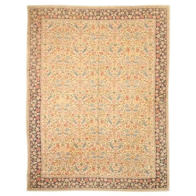 Antique Nundah Indian Hand-Stitched Carpet For Sale