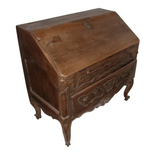 18th Century French Provincial Slant Front Desk With Hidden Compartment For Sale