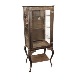 1900 Traditional Columbus Aseptic Furniture Co. Stripped Medical Cabinet For Sale