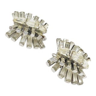 Exceptional Art Deco Crystal Earrings by Kenneth Jay Lane For Sale