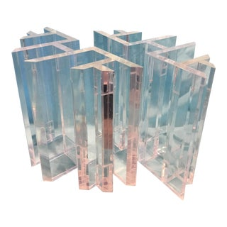 Lucite Coffee Table Bases - a Pair