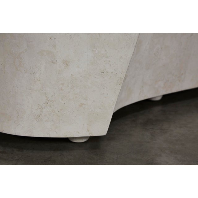 """1990s Contemporary Freeform White Stone Two Part """"Hampton"""" Coffee Table For Sale - Image 9 of 13"""
