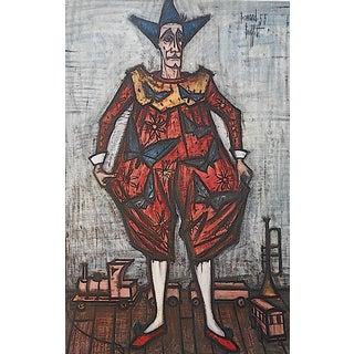 """Vintage Bernard Buffet Color Lithograph """"Le Cirque"""" For Sale"""