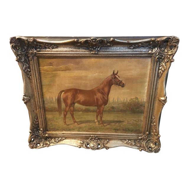 1920s Vintage Wilhelm Westerop Horse Bobby Painting For Sale