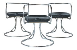 Image of Chrome Dining Chairs