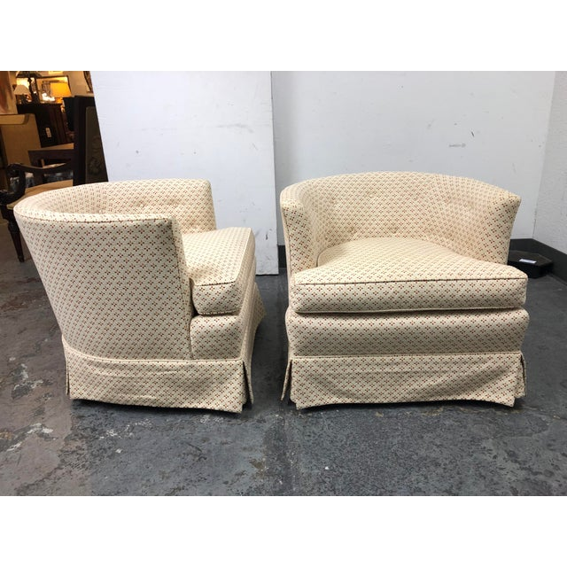 Henredon Henredon 1960's Roller Club Barrel Chairs - a Pair For Sale - Image 4 of 11