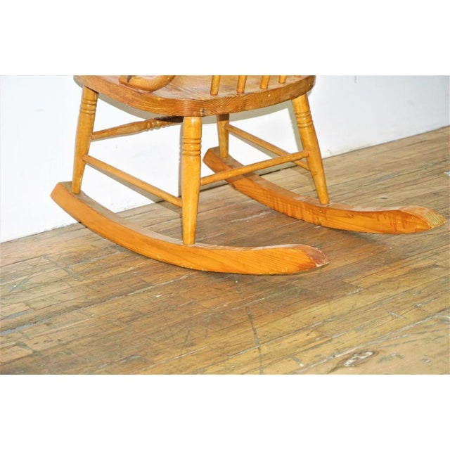 Brown Vintage Russell Wright Maple Wood Rocking Chair For Sale - Image 8 of 9