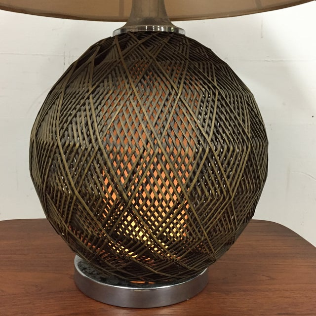 Optic Woven Cane Table Lamp - Image 6 of 11