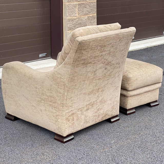 Contemporary RJones Lounge Chair & Ottoman For Sale - Image 3 of 13
