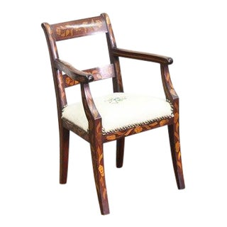 1830s Inlaid Marquetry Childs Chair For Sale