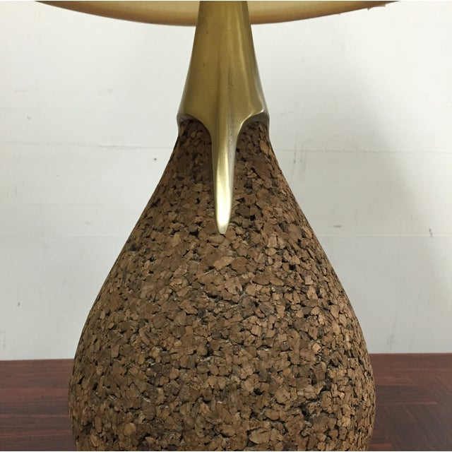 Cork & Brass Tear Drop Table Lamp - Image 7 of 7