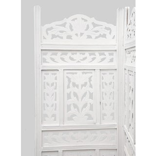 White Leaf Folding Screen Preview