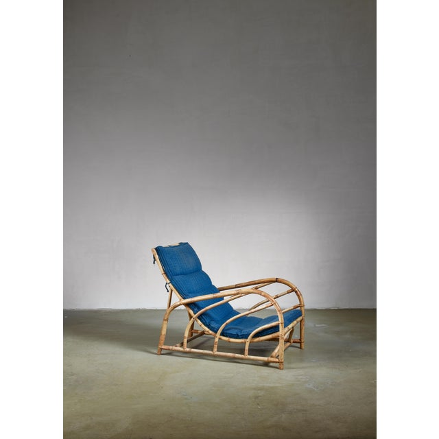 1930s Bamboo and Rattan Lounge Chair, Sweden, 1930s For Sale - Image 5 of 5