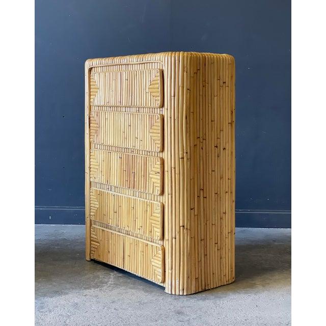 Boho Chic Rattan Dresser For Sale - Image 3 of 9